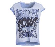 T-Shirt - blau/ schwarz