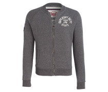 Sweatjacke APPLIQUE BOMBER - grau