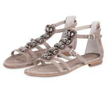 Sandale ELLE mit Schmucksteinbesatz - grau