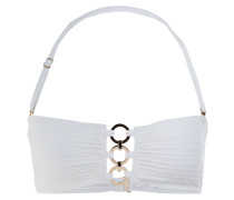 Bandeau-Bikini-Top - white