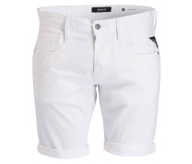 Jeans-Shorts ANBASS Slim-Fit - 001 white