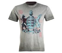 T-Shirt - kaki/ mint/ schwarz