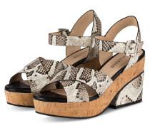 Sandaletten - WEISS/ NUDE/ SCHWARZ