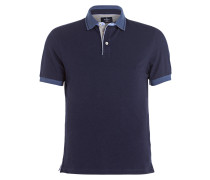 Piqué-Poloshirt Slim-Fit - navy