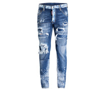 Destroyed-Jeans COOL GUY Slim-Fit - blau