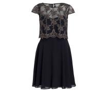 Kleid mit Spitzendetails - dunkelblau