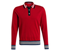 Pullover im Polo-Look - rot