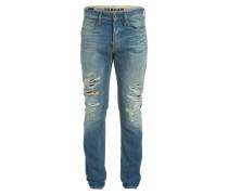 Destroyed-Jeans RAZOR 4TR Slim-Fit - blau