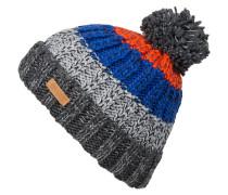 Mütze WILHELM - grau/ blau/ orange