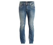 Destroyed-Jeans SLIM SABER Slim-Fit - blue