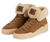 Plateau-Sneaker PARIS 1B mit Lammfellbesatz