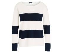 Pullover - offwhite/ navy gestreift