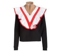 Pullover - schwarz/ rot/ weiss