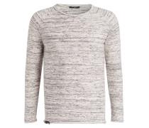 Pullover - weiss/ grau gestreift