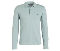 Jersey-Poloshirt - grün gestreift