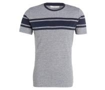 T-Shirt LEAP HERD - grau meliert/ marine