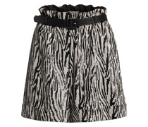 Paperbag-Shorts mit Paillettenbesatz