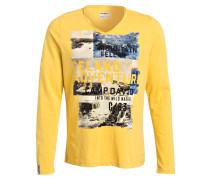 Langarmshirt - gelb