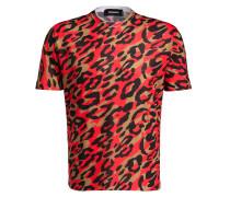 T-Shirt - rot/ schwarz/ braun