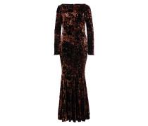 Abendkleid LORENA - schwarz/ dunkelrot