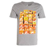 T-Shirt VINTAGE SHOEBOX - grau