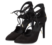 Cut-out-Pumps - schwarz