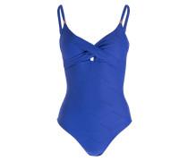 Badeanzug TEXTURE DEEPBLUE - blau