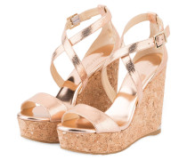 Wedges PORTIA 120 - rosé metallic