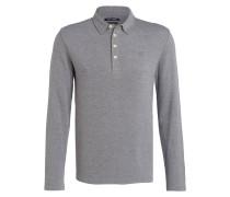Poloshirt Shaped-Fit - grau meliert