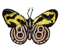 Brosche - schwarz/ gelb