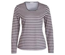 Shirt mit 3/4-Arm - creme/ navy