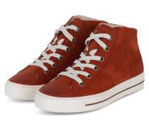 Hightop-Sneaker - DUNKELORANGE