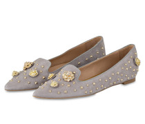 Slipper - grau/gold