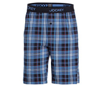 Sleep-Shorts - navy/ weiss/ rot kariert
