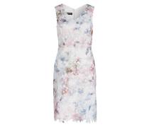 Kleid oA AOP floral auf Spitze