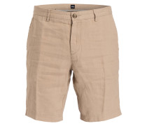 Leinen-Shorts CRIGAN Regular-Fit - beige