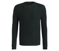 Cashmere-Pullover mit Zopfmuster