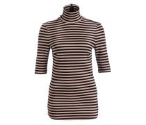 Rollkragen-Shirt JELINA - schwarz/ beige