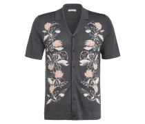 Strick-Resorthemd HERNANDEZ Regular Fit mit Leinen