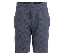 Sleep-Shorts MIX & RELAX - blau/ grau