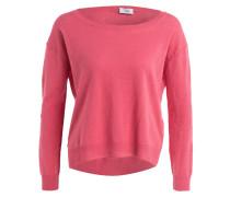 Pullover mit Leinenanteil - pink