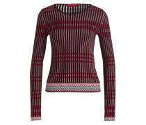 Pullover SHARVANI - schwarz/ rot/ weiss