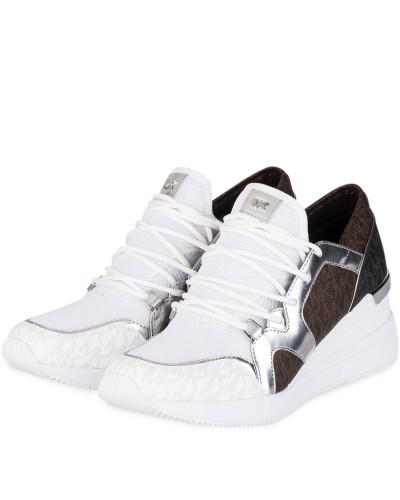 Plateau-Sneaker LIV - WEISS/ BRAUN/ SILBER