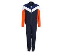 Trainingsanzug - navy/ orange/ weiss