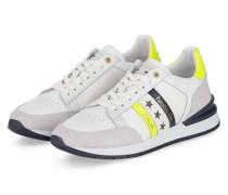 Sneaker - WEISS/ DUNKELBLAU/ NEONGELB