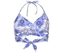 Bustier-Bikini-Top - blau/ weiss