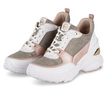 Plateau-Sneaker MICKEY mit Glanzgarn