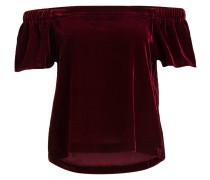 Off-Shoulder-Shirt - burgunder