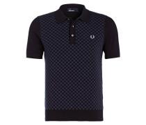 Strick-Poloshirt - blau