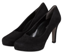Plateau-Pumps - schwarz velours